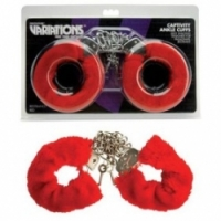 Набор Меховые красные наручники variations 1092246 cd ts