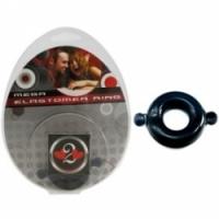 Виброкольцо Кольцо с ушками из эластомера черное размер large h2h1206blk-l