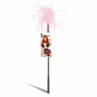 Набор Ласкающая палочка с розовыми перьями feather tickler lf1460-pnk