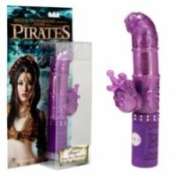 Вибратор Пиратский фиолетовый хай-тек stoya`s deep sea adventures rabbit-003