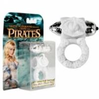 Виброкольцо Пиратское белое колечко riley white pleasure ring-0013