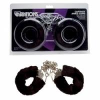 Набор Меховые черные наручники variations 1092256 cd ts