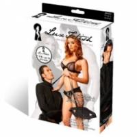 Набор Черная смирительная рубашка унисекс от lux fetish lf1476l/xl