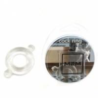 Виброкольцо Кольцо с ушками из эластомера прозрачное размер small m2m1206c-s