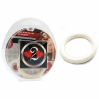Виброкольцо Нитриловое эрекционное белое кольцо d=35 мм h2h1210w