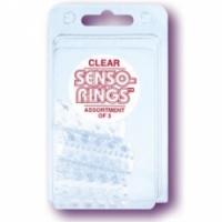 Виброкольцо Три тонкие прозрачные насадки senso rings 1431-00 cd se