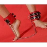 Набор Поножи без цепи (красные) p25a