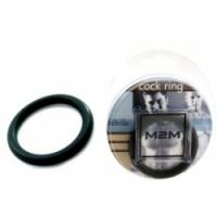Виброкольцо Кольцо эрекционное черное m2m1211blk