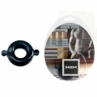 Виброкольцо Кольцо с ушками из эластомера черное размер large m2m1206blk-l