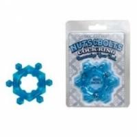 Виброкольцо Синее силиконовое кольцо blue bolt 7554-03 cd dj