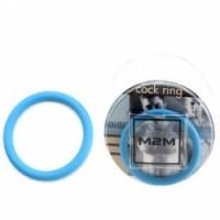 Виброкольцо Нитриловое эрекционное голубое кольцо d=45 мм m2m1212sb