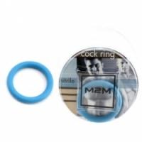 Виброкольцо Нитриловое эрекционное голубое кольцо d=35 мм m2m1210sb