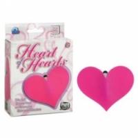 Набор Плоское вибрирующее сердце из силикона heart of hearts 1054-04 bx se