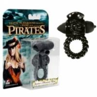 Виброкольцо Пиратское черное колечко janine`s black pleasure ring-0012