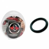 Виброкольцо Нитриловое эрекционное черное кольцо d=40 мм h2h1211blk