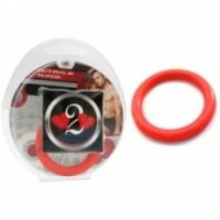 Виброкольцо Нитриловое эрекционное красное кольцо d=35 мм h2h1210r