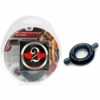 Виброкольцо Кольцо с ушками из эластомера черное размер small h2h1206blk-s