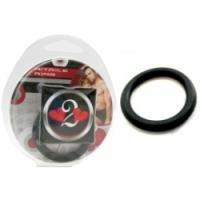 Виброкольцо Нитриловое эрекционное черное кольцо d=35 мм h2h1210blk