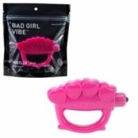 Вибратор Вибратор-кастет розовый bad girl vibe h25114-10002