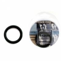 Виброкольцо Нитриловое эрекционное черное кольцо d=35 мм m2m1210blk